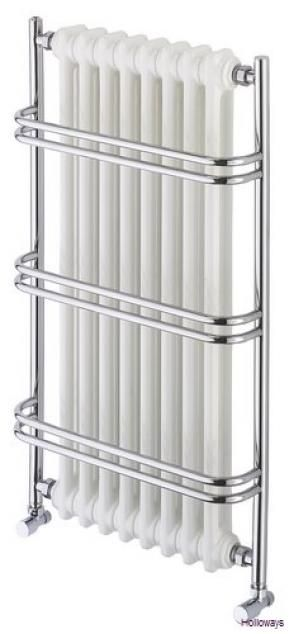 This traditional heated towel rail has a large radiator insert for serious heat output! #hotlooks
