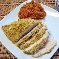 Crispy Ranch Chicken- from the Smoked 'n' Grilled blog - probably not the healthiest dish (you know that ranch mix is high sodium), but probably a good guilty pleasure :)