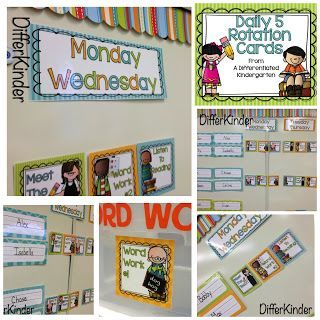 Free Daily 5 Rotation Cards to help get you organized for your own Daily 5 Stations.