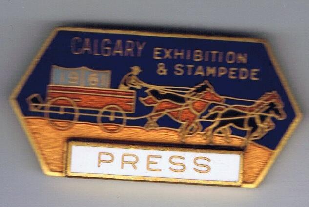 1961 Calgary Stampede Press pin