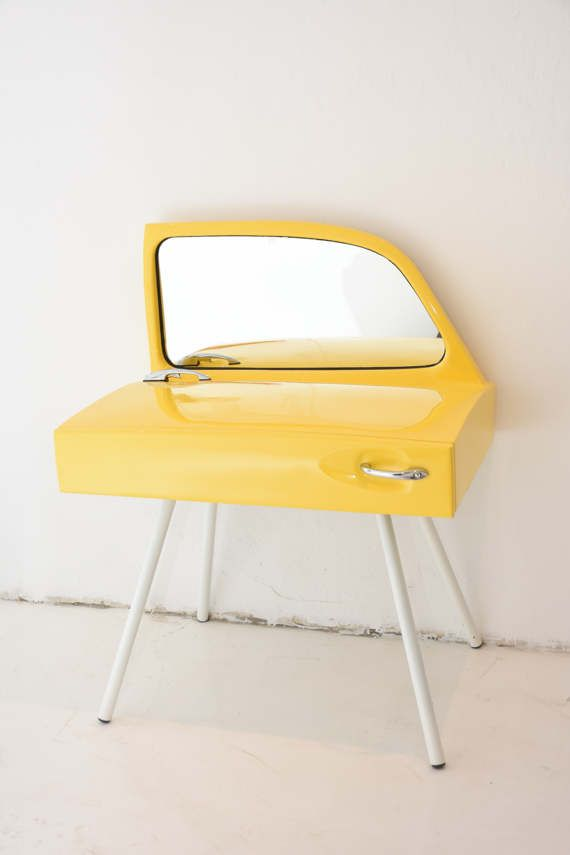 Yellow Dressing Table made out of a beetle by FunctionalArtGallery