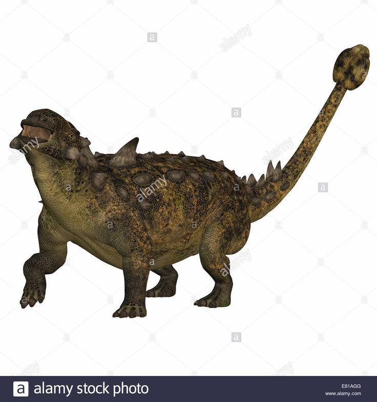 Euoplocephalus Tutus An Herbivorous Armored Dinosaur That Used Its Stock Photo Royalty Free Image
