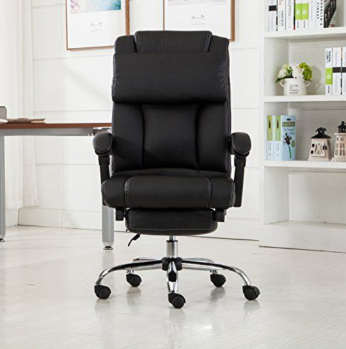 Belleze Executive Reclining Office Chair High Back PU Leather Footrest  Armchair Recline w/ Pillow - - Best 25+ Reclining Office Chair Ideas On Pinterest Comfy Chair