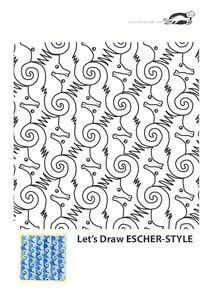 KROKOTAK PRINT! | printables for kids - Escher-style printables