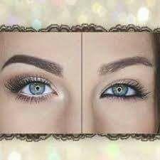 White eyeliner to widen the eyes