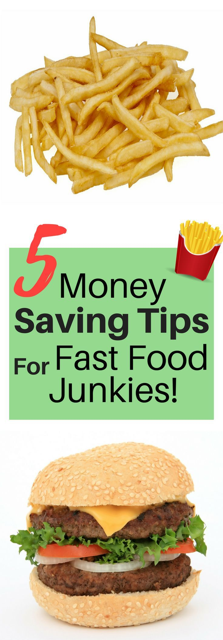 Eating out can suck your bank account dry, and it's often a no-no in the big rulebook of paying off debt. When you're on a budget you have to make a lot of adjustments and sacrifices, but eating out doesn't have to be stopped altogether. Utilizing these five tips will help you stay on track financially while still enjoying the ability to eat out every once in a while! This post contains money-saving tips and resources that offer deals and coupons for fast food junkies. #printables #mobile…