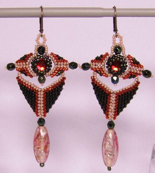 Chandelier Earrings – Chandelier earrings- Red and green – a unique product by DarkEyedJewels on DaWanda