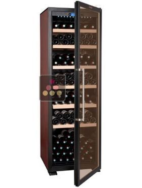 Single-temperature wine cabinet for storage or service