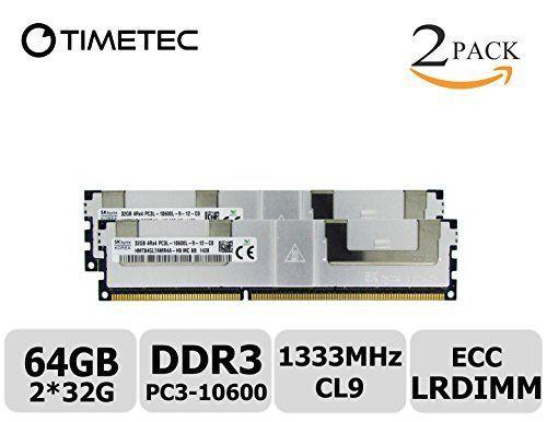 timetec sk hynix 64gb kit 2x32gb ddr3l 1333mhz pc3 10600 load reduced ecc
