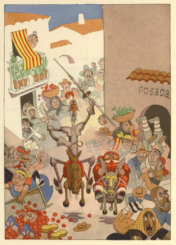 Illustrations by Albert Dubout for L'Ingenieux Hidalgo Don Quichotte de la Manche (1938)