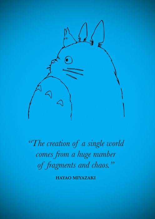 Hayao Miyazaki - My idol my favorite director.. Im a super Ghibli Studios fan! and I love Howl! (Get something to just represent ghibli studios, the quote isn't necessary)