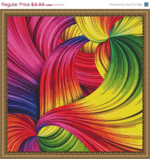 ON SALE Counted Cross Stitch Pattern Rainbow by StitchXCrossStitch, $3.56