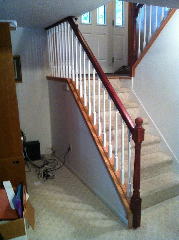 Basement Stairs Design: Low Ceiling Stair Rail Solution