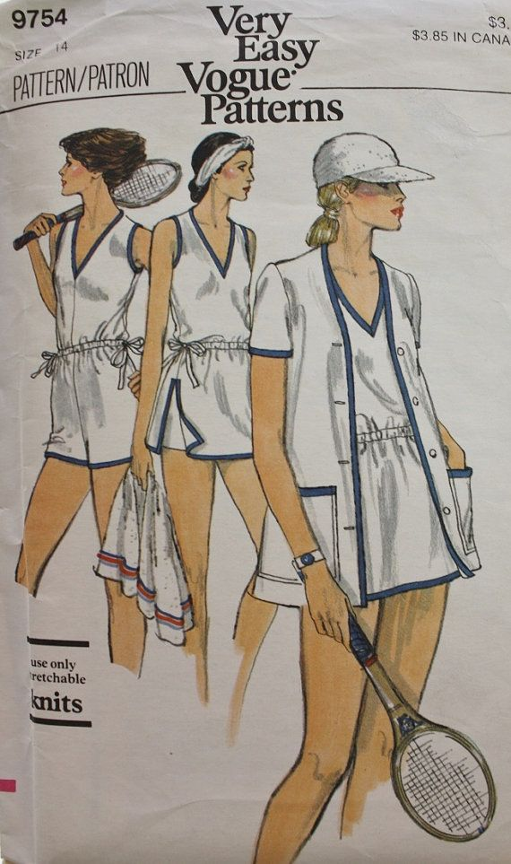 1970s Misses Tennis Dress Shorts Jumpsuit by BluetreeSewingStudio, $20.00