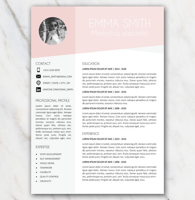 The 25+ best Free resume templates word ideas on Pinterest Cover - pages resume templates free