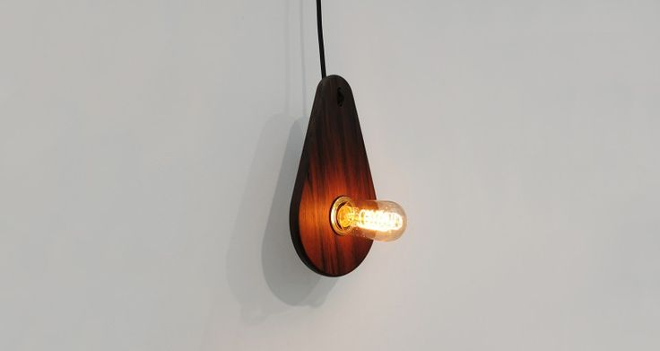 Flensted Studio's 'Light Drop' is a low wattage lamp that highlights the natural colour and grain of the wood.