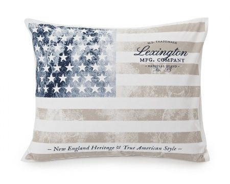 Vintage Flag Printed Pillowcase from Lexington Home Fall 2016 Collection. www.lexingtoncompany.com