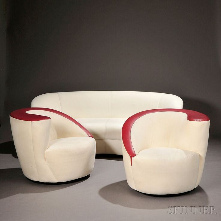 Two Matching Swivel Chairs And A Sofa