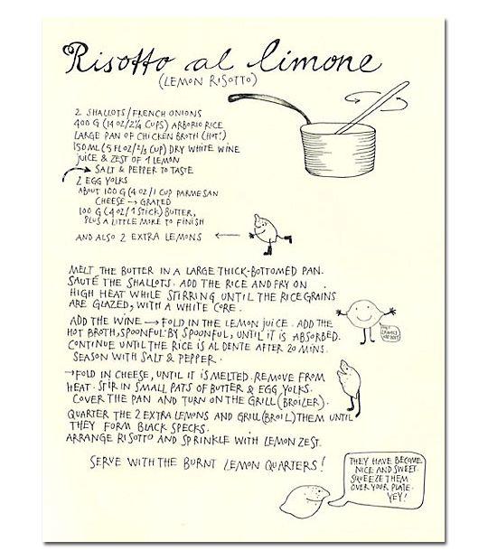 Risotto al limone: very Under the Tuscan Sun :)