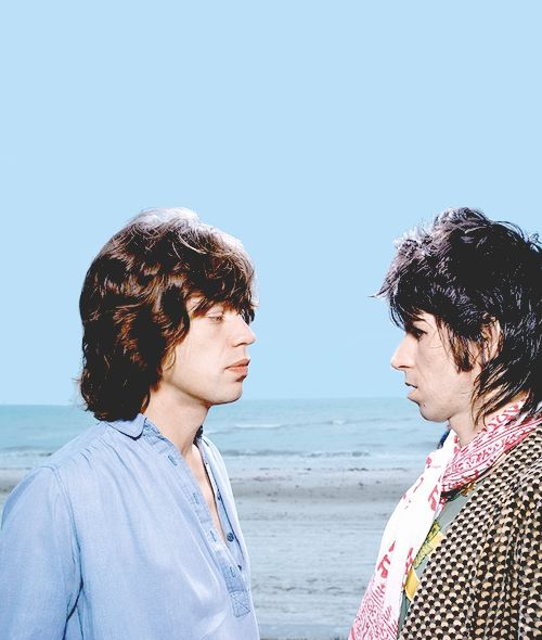 Mick Jagger and Keith Richards, 1976
