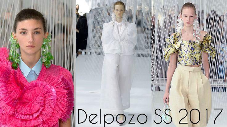 Delpozo oorbellen: nieuwe Lente-Zomer 2017 modecollectie