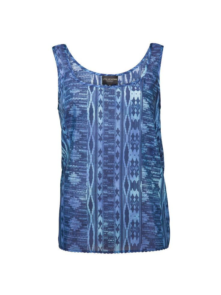 The classic Scales Cami design is the perfect wardrobe essential. It's unique print and lightweight material allows it to be worn through all seasons. Tuck in to a pair of shorts or team back with the Throw Light Cotton Skirt.  Featuring: Scoop neck Made from Silk Cotton Dry Clean Only  Exclusive Little Joe Woman Print