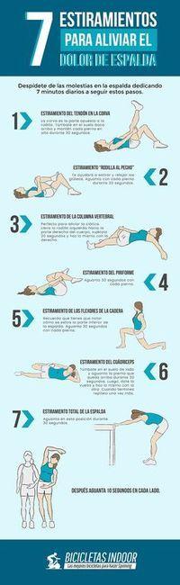7 Estiramientos para aliviar el dolor de espalda Más