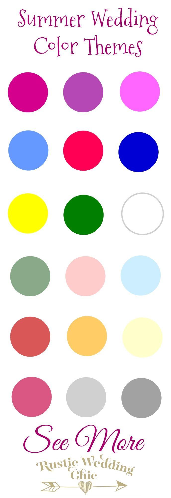 145 best summer wedding color palettes inspiration for Summer wedding color palette