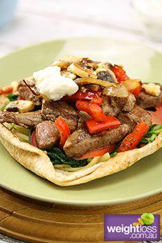 Italian Steak Pizza. weightloss.com.au