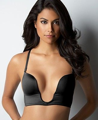 U-plunge Bra  Allows you to wear clothes that have a deep plunging neckline.
