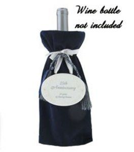 25th Wedding Anniversary Wine Bag