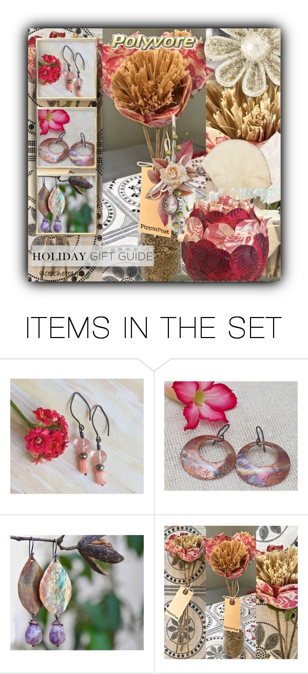 """""""Etsy Friends Gift Guide"""" by crochetragrug ❤ liked on Polyvore featuring art"""