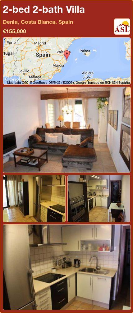 2-bed 2-bath Villa in Denia, Costa Blanca, Spain ►€155,000 #PropertyForSaleInSpain