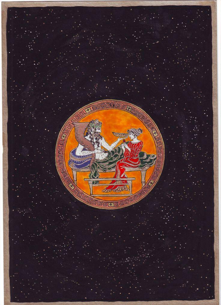 Hádész és Perszephoné, 2005 nyár. Egyik álomban ebben a formában tűnt fel az ókori ábrázolásuk