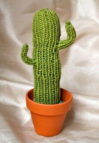 Free Knitting Pattern for Saguaro Cactus