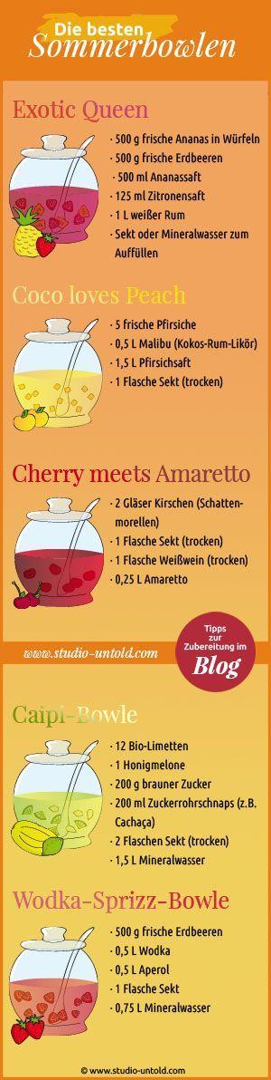 Leckere #Rezepte für sommerliche #Bowlen gibt es in unserem Blog unter http://www.studio-untold.com/de-DE/blog/die-besten-sommerbowlen/: