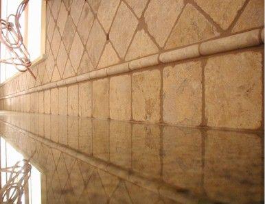 20 best ideas about travertine backsplash on pinterest for Tumbled glass tile