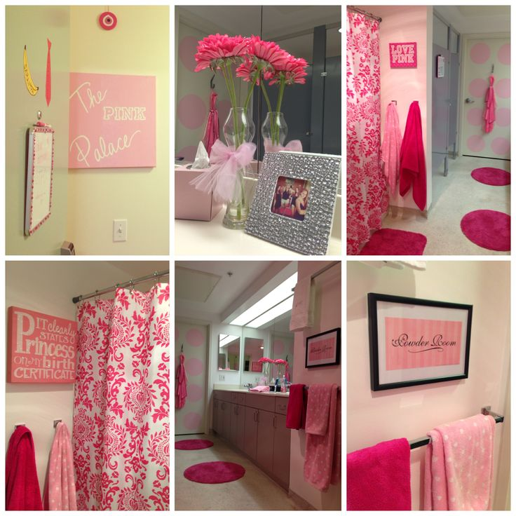 Dorm Bathroom Decorating Ideas 70 best pink dorm room images on pinterest | pink dorm rooms