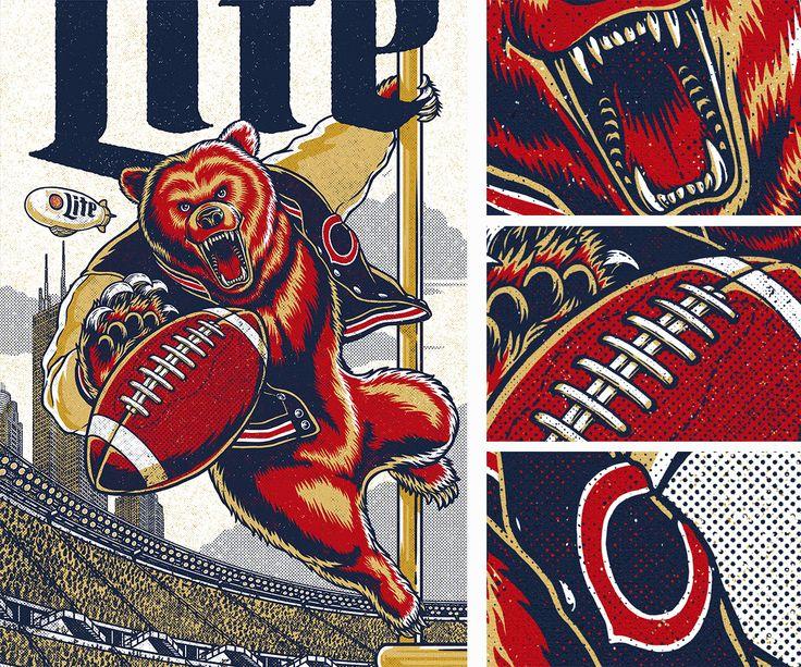 Miller Lite / Chicago Bears on Behance