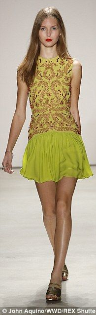 Jenny Packham debuts pretty punk rock collection at NYFW #dailymail
