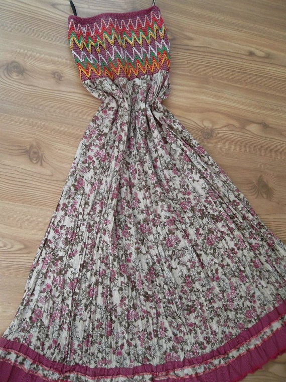 Handmade Pink    Maxi Skirt  Dress by ADfashion on Etsy, $22.50