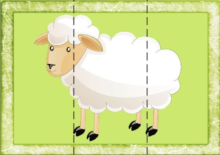 puzzles animaux très simples et zolis - La petite et moyenne section d'Armelle