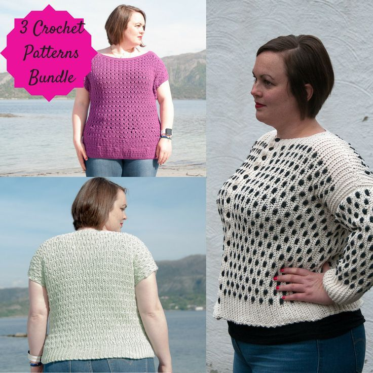 Aran Cotton Women's Bundle  The Aran Cotton Women's Bundle is a collection of 3 crochet patterns, using really aran cotton to make them. All of them available in XS-XL sizing.  - Sidus Cardigan: https://joyofmotioncrochet.com/crochetpatterndesigns/sidus-cardigan-crochet-pattern-design/ - Choro Top: https://joyofmotioncrochet.com/crochetpatterndesigns/choro-top-crochet-pattern-design/ - Solis Top: https://joyofmotioncrochet.com/c...