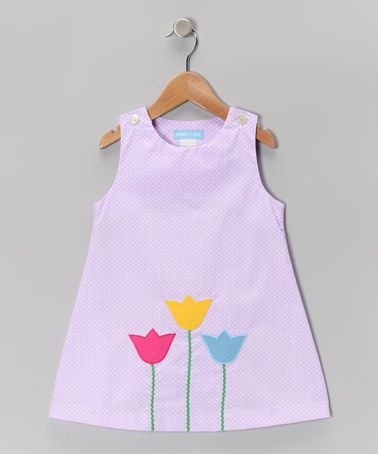 Take a look at this Purple Polka Dot Tulip Jumper - Infant & Girls by Monday's Child on #zulily today!