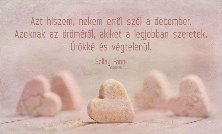 Sallay Fanni #idézet #december
