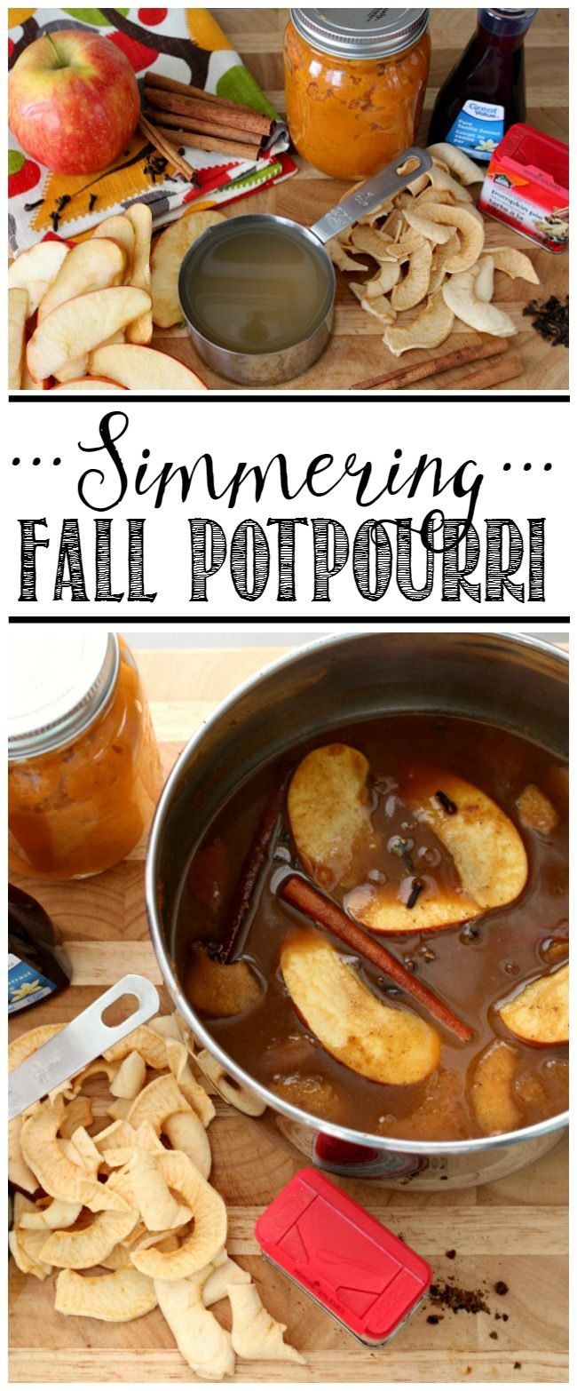 Yum! The scents if Fall! Fall Simmering Potpourri Recipes to make your house smell warm and delicious! (Diy House Freshener)