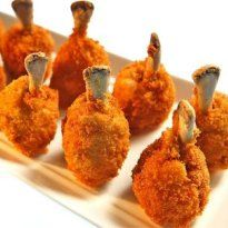 Chicken Lollipops: Coated with a luscious batter, #chicken wings are fried perfect.