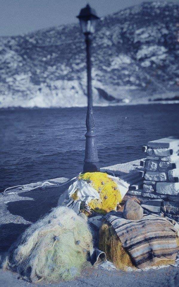 #naksos #apollonas #lantern #fishing #net