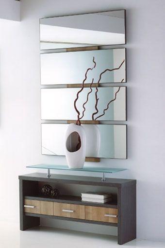 17 mejores ideas sobre muebles con espejo en pinterest - Muebles entrada baratos ...