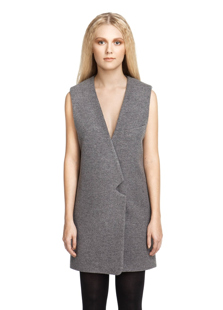 BACK / Sleeveless Jacket Grey (260€-70%) | Acolyth  Love this jacket.